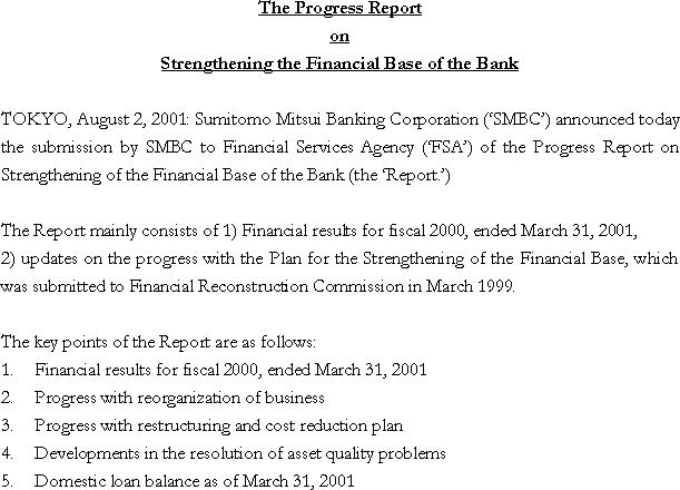 The Progress Report on Strengthening the Financial Base of the Bank(1/1)