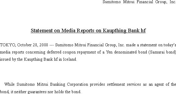 News Release Sumitomo Mitsui Banking Corporation